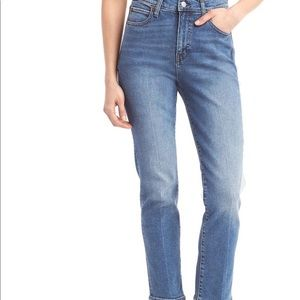 Gap High Rise Straight Jeans 28